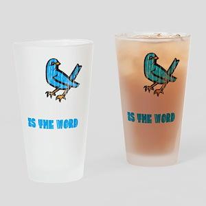 Word Bird blk Drinking Glass