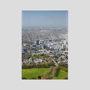New Zealand - aerial Christchurch Rectangle Magnet