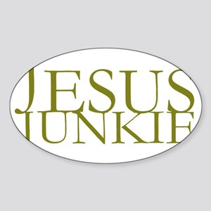 Jesus Junkie Sticker (Oval)