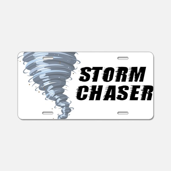 storm chaser1 Aluminum License Plate