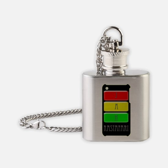 jah rasta buttons i-phone 3g hard c Flask Necklace