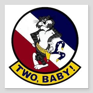 "VF-2 Bounty Hunters - Tw Square Car Magnet 3"" x 3"""