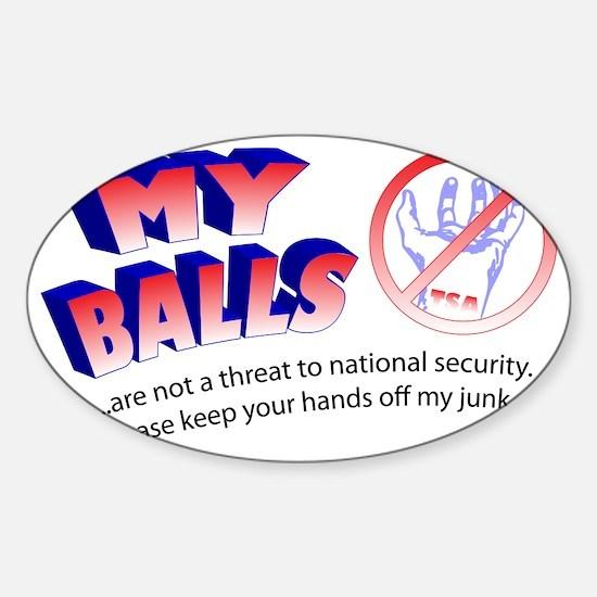 My Balls Sticker (Oval)