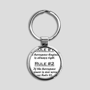 Rule Aerospace Engineer Round Keychain