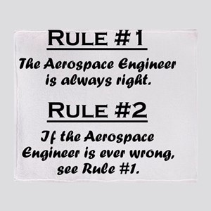 Rule Aerospace Engineer Throw Blanket
