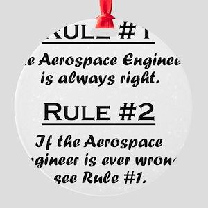 Rule Aerospace Engineer Round Ornament
