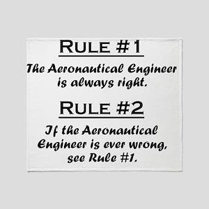 Rule Aeronautical Engineer Throw Blanket