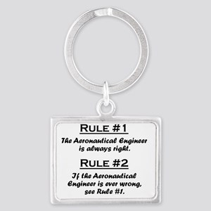Rule Aeronautical Engineer Landscape Keychain