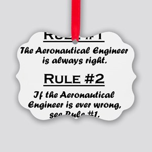Rule Aeronautical Engineer Picture Ornament