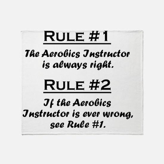 Rule Aerobics Instructor Throw Blanket