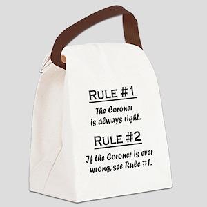 Rule Coroner Canvas Lunch Bag