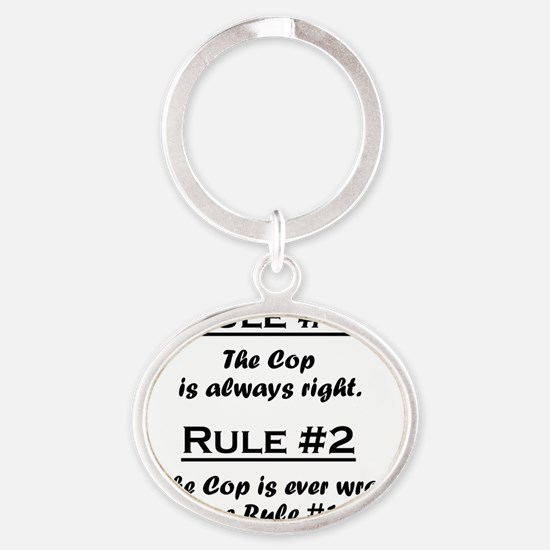 Rule Cop Oval Keychain