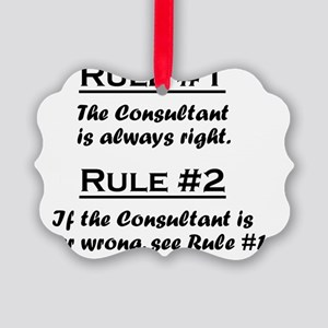 Rule Consultant Picture Ornament