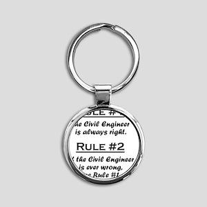 Rule Civil Engineer Round Keychain