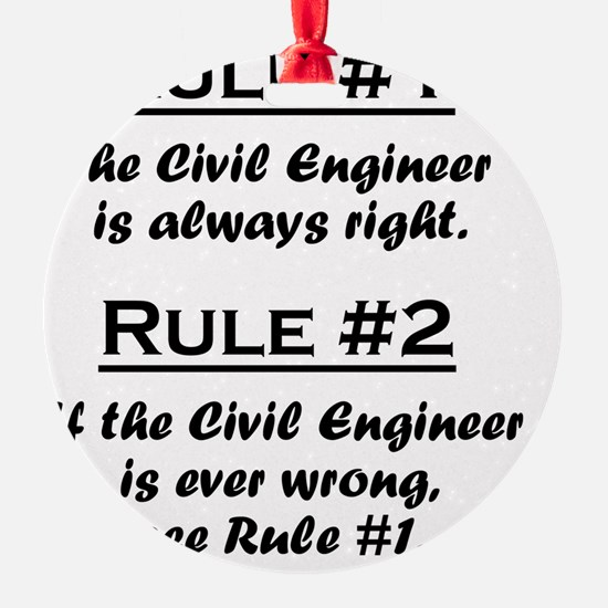 Rule Civil Engineer Ornament