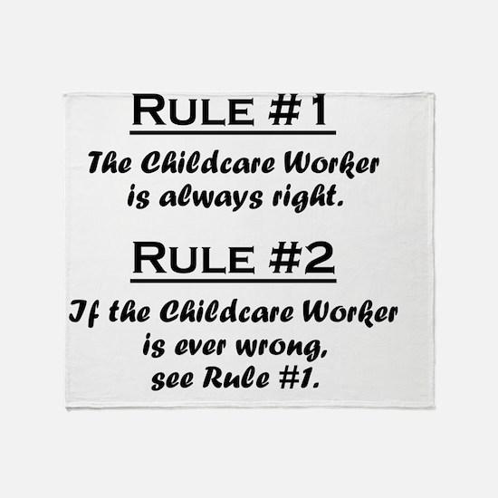 Rule Childcare Worker Throw Blanket