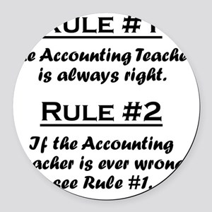 Rule Accounting Teacher Round Car Magnet