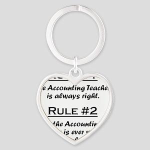 Rule Accounting Teacher Heart Keychain