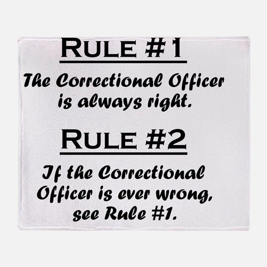 Rule Correctional Officer Throw Blanket