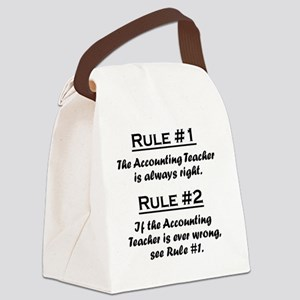 Rule Accounting Teacher Canvas Lunch Bag