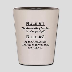 Rule Accounting Teacher Shot Glass