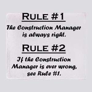 Rule Construction Manager Throw Blanket