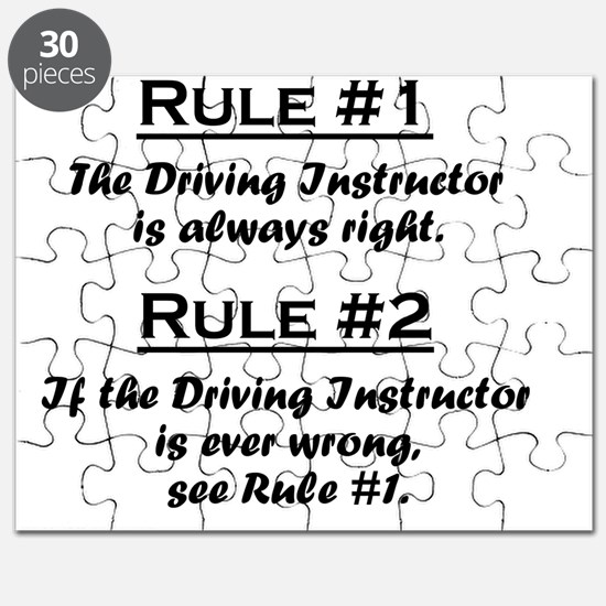 Rule Driving Instructor Puzzle