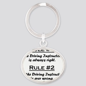 Rule Driving Instructor Oval Keychain