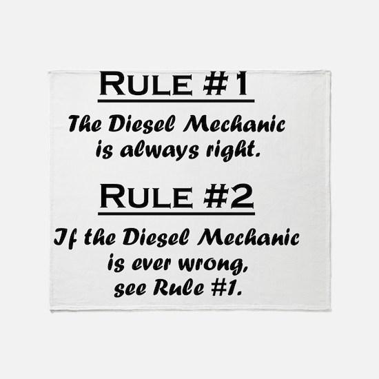 Rule Diesel Mechanic Throw Blanket
