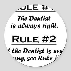 Rule Dentist Round Car Magnet