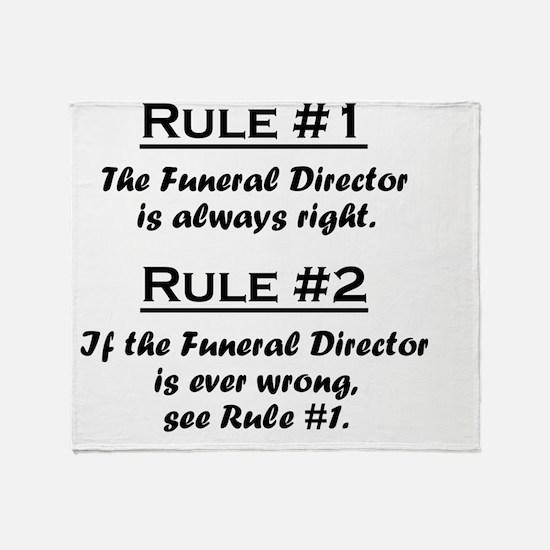 Rule Funeral Director Throw Blanket