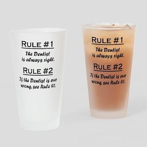 Rule Dentist Drinking Glass
