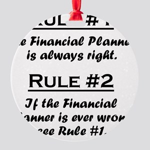 Rule Financial Planner Round Ornament