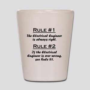Rule Electrical Engineer Shot Glass