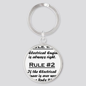Rule Electrical Engineer Round Keychain