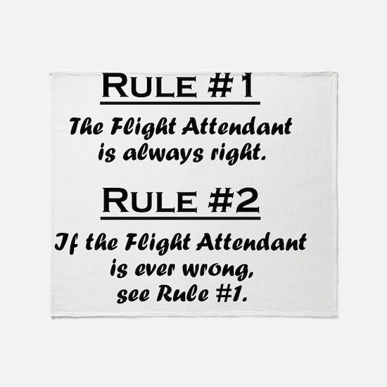 Rule Flight Attendant Throw Blanket