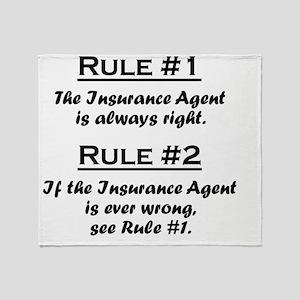 Rule Insurance Agent Throw Blanket