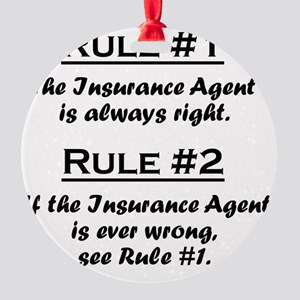 Rule Insurance Agent Round Ornament