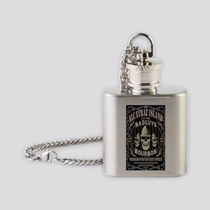 ALCATRAZ ISLAND BADGUYS STICKER Flask Necklace