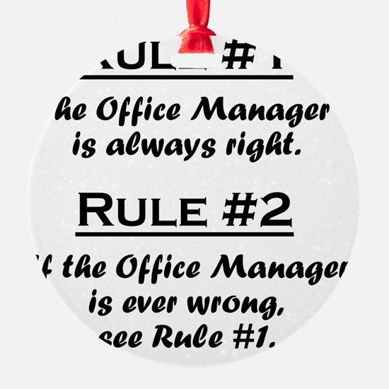 Rule Office Manager Ornament