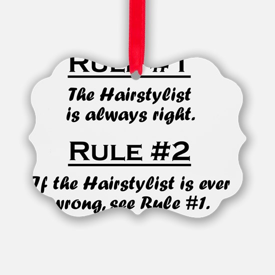 Rule Hairstylist Ornament