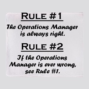 Rule Operations Manager Throw Blanket