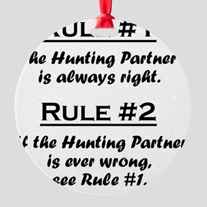 Rule Hunting Partner Round Ornament