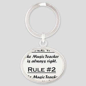 Rule Music Teacher Oval Keychain