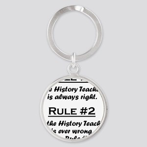 Rule History Teacher Round Keychain