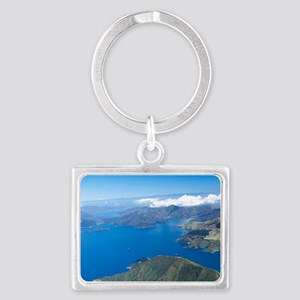 New Zealand - aerialrough Sound Landscape Keychain