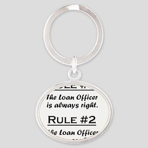 Rule Loan Officer Oval Keychain