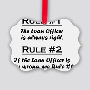 Rule Loan Officer Picture Ornament