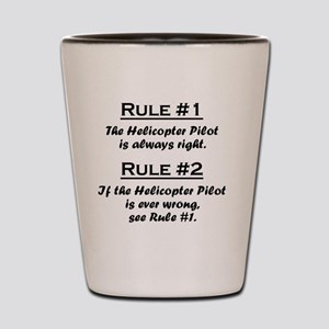 Rule Helicopter Pilot Shot Glass