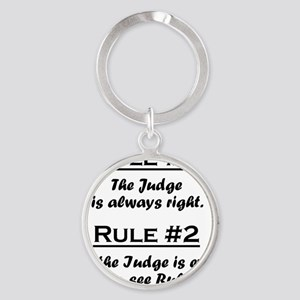 Rule Judge Round Keychain